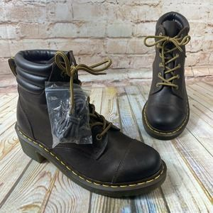 Doc Martens Air Wair ALEXANDRA Leather Boots Shoes